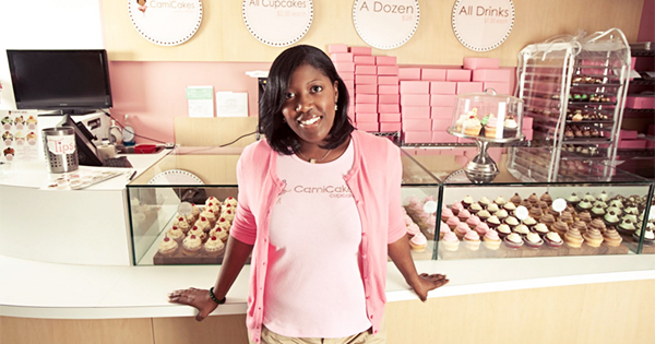 Camille Hall of CamiCakes, a black-owned cupcake company